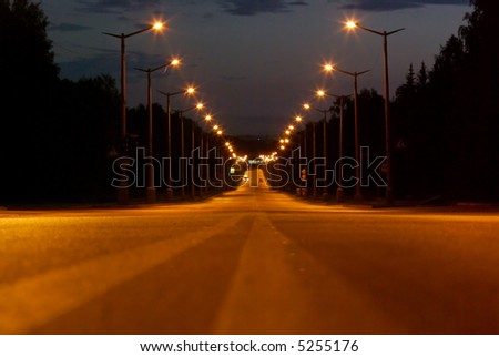 night road abstract - stock photo