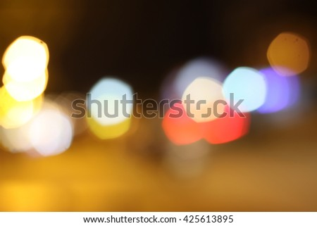 Night road abstract blurred - stock photo