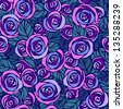 Night roses. Seamless pattern. Raster version - stock photo