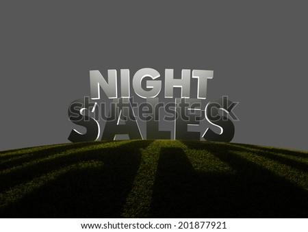 Night sales - stock photo