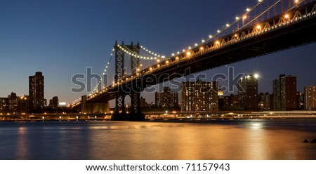 Night Scene in New York City