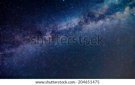 night scene milky way background - stock photo