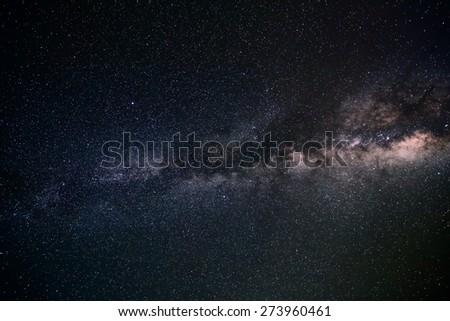 night scene milky way background in the galaxy - stock photo