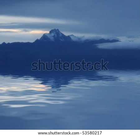 Night scene. Mount Kenya. Africa - stock photo