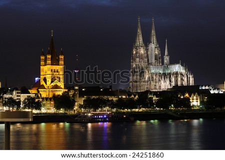 night scene of gothic old town