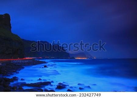 Night Scene of North Taiwan - stock photo