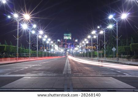 Night scene of Putrajaya, Malaysia - stock photo