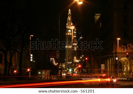 Night scene, Vienna