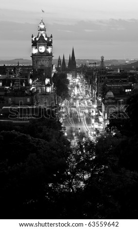 Night shot of Edinburgh