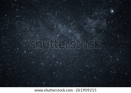 Night Sky and Milky Way - stock photo