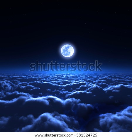 night sky and the sea of clouds