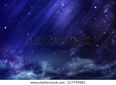 night sky, background - stock photo