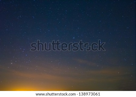 night sky before a dawn - stock photo