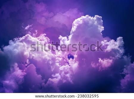 night sky with cloud - stock photo