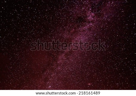 Night sky with lot of shiny stars, milky way - stock photo