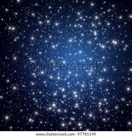 Night sky with star - stock photo
