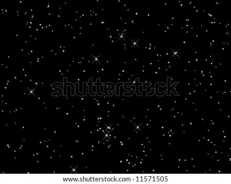 Night sky with stars - stock photo