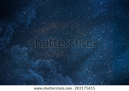Night sky with stars  - stock photo