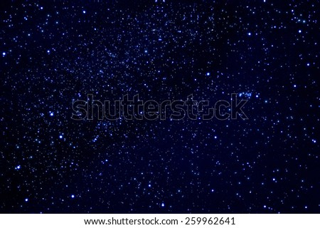 night sky with white stars ,use as background - stock photo