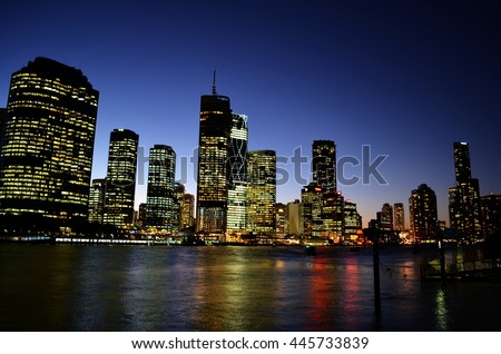 Night skyline - stock photo