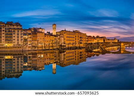Night skyline of Florence, Italy
