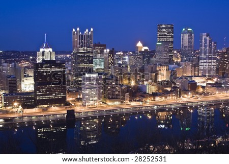 Night Skyline of Pittsburgh, Pennsylvania