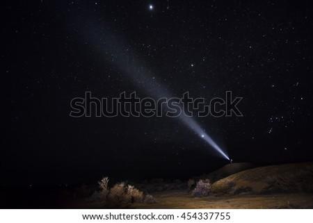 Night Star Lantern - stock photo