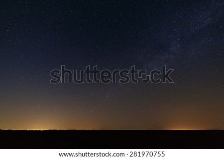 Night starry sky for background. - stock photo