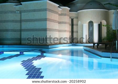 night swimming pool - stock photo