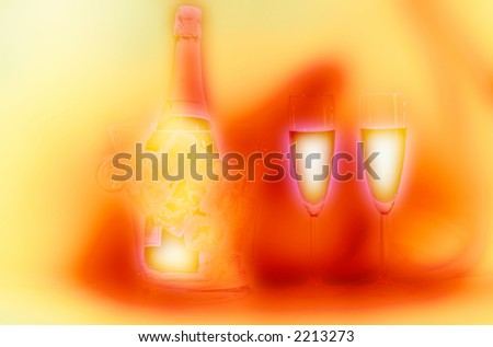 Night-time cellebration abstract concept - stock photo