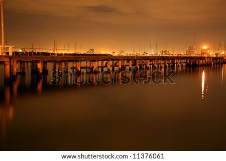 Night  time  on  the   bridge - stock photo