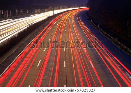 Night time traffic on highway