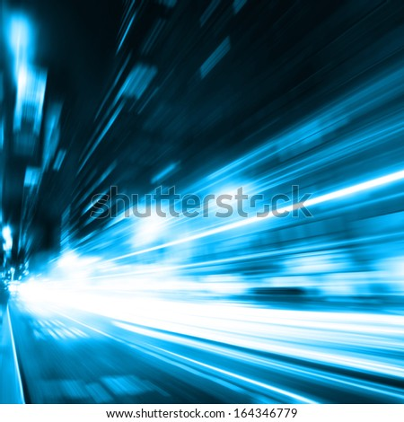 Night traffic in the city. Motion blur. - stock photo