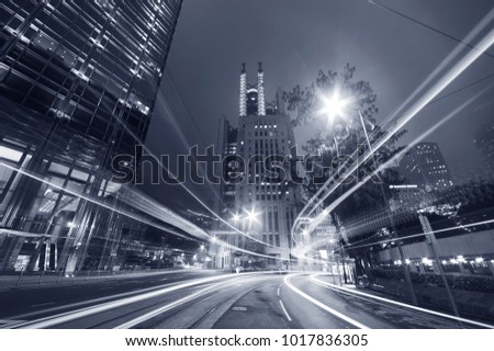 Night traffic in urban city