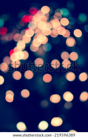Night traffic lights of the big city.Blurred night view of city in the night - stock photo