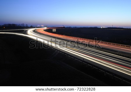 night traffic on the highway