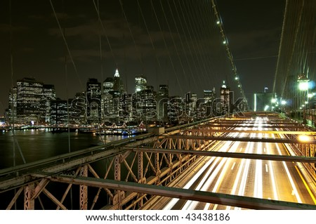 Night Trails - stock photo