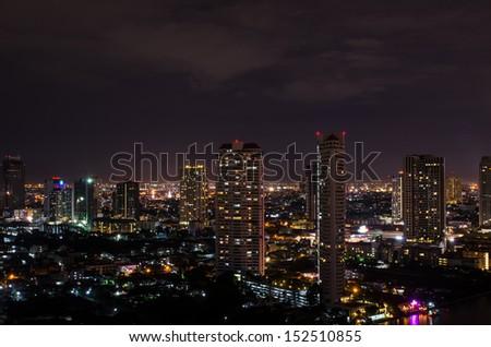 Night view, Bangkok, Thailand - stock photo