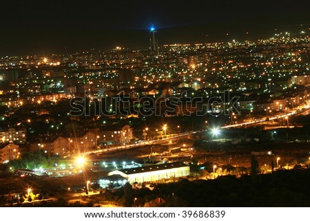 night view from konya