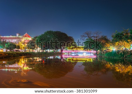 Night view in siem reap,cambodia.