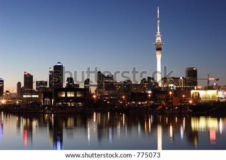 Night view of Auckland City