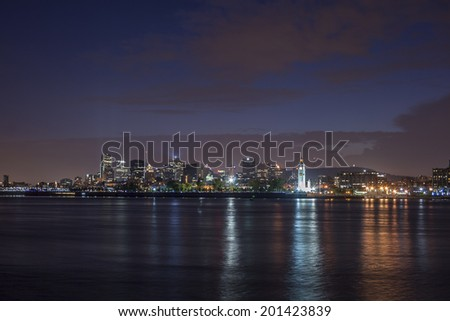 Night view of Montreal, Canada - stock photo