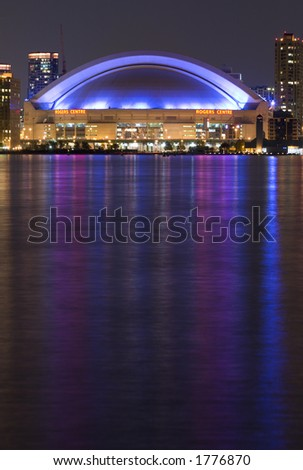 night view of Rogers Center - stock photo
