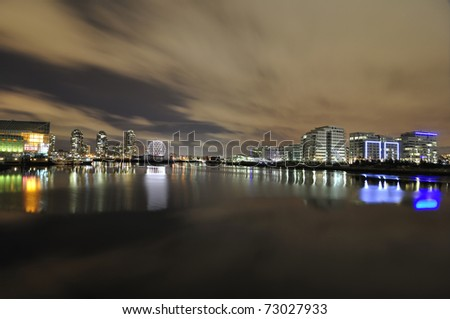 Night View of Sea Inlet