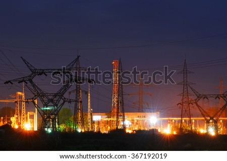 Night view of the industrial area