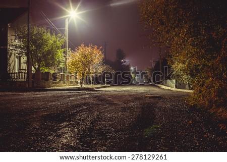 night village - stock photo