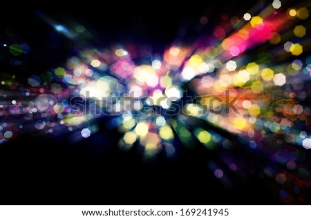 NightClub.Holiday.Party. Golden Abstract Backdrop with Lights.Night - stock photo