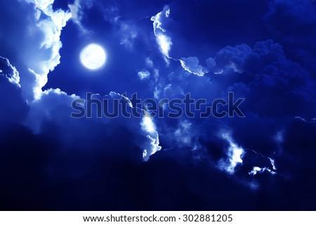 nightly sky - stock photo