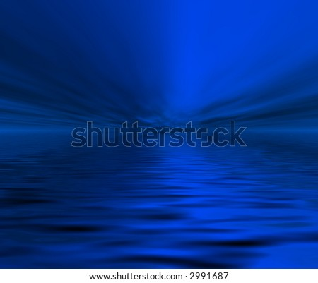 Nights ocean - stock photo