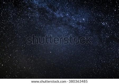 Nightsky and Milky Way - stock photo